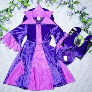 Disney Store pink/purple Maleficent dress costume